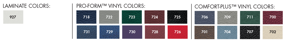 laminate and standard vinyl colors
